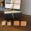 Thumbnail: Orange Stones & Gold Square Cuff Links