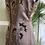 1950s Hand Beaded Satin Wiggle Dress Back View