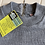 Thumbnail: Grey Knitted Top with Crew Neck