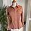 Thumbnail: Tan Polyester 1970s Pin Tucked Shirt