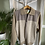Thumbnail: Stone & Cream Zipped Cardigan with Faux Suede