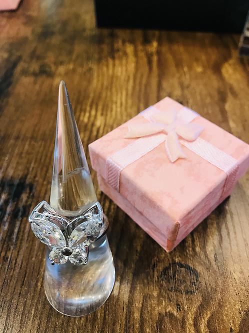 Butterfly Diamanté Ring