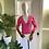 Thumbnail: Fuchsia Pink Cashmere Cardigan
