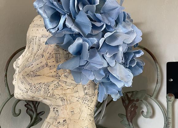 1960s Baby Blue Petal Hat