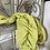 Thumbnail: Bright Lime Green Ruched 3/4 Gloves