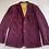 Burgundy Corduroy Jacket with Silk & Harris Tweed Flat View