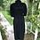 Original 1970s Black  Moss Crepe  Dress By Ossie Clark Back View
