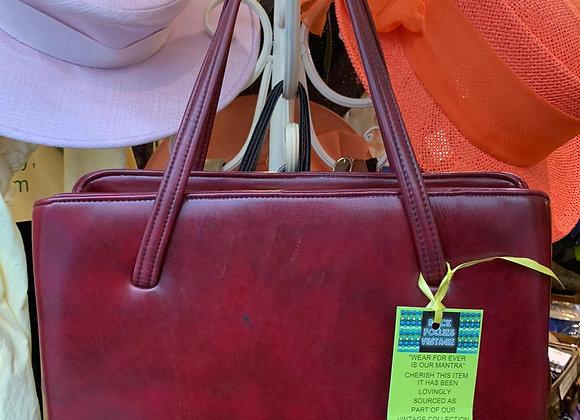 Burgundy Frame Bag
