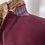 Burgundy Corduroy Jacket with Silk & Harris Tweed Under Collar View