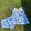 Original 1970s Two Piece Swim Set in Blues and White by Slix