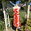 1960s Orange and White Sun Dress Front View