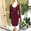 Vintage Cotton Velvet Sweetheart Wiggle Dress By Next Front View