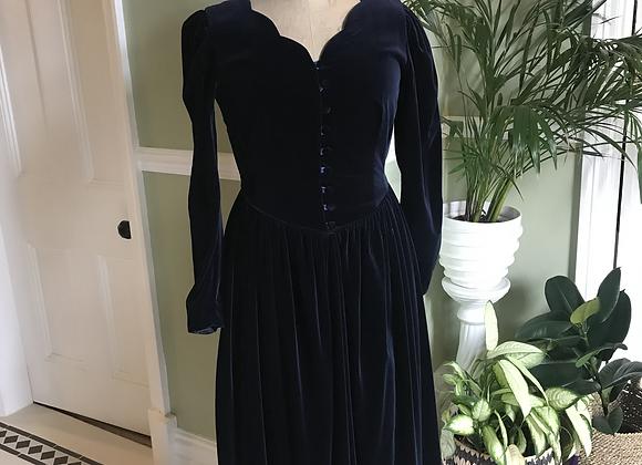 Laura Ashley Cotton Velvet Dress