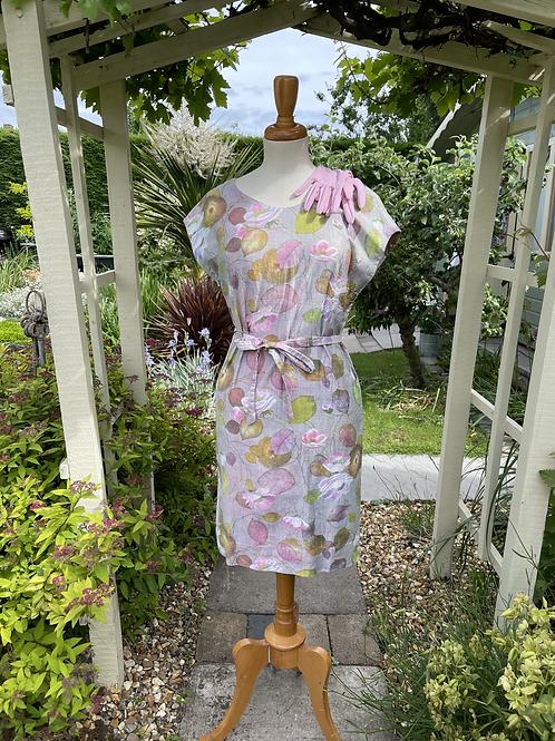 1960s Cotton Shift Dress Front View