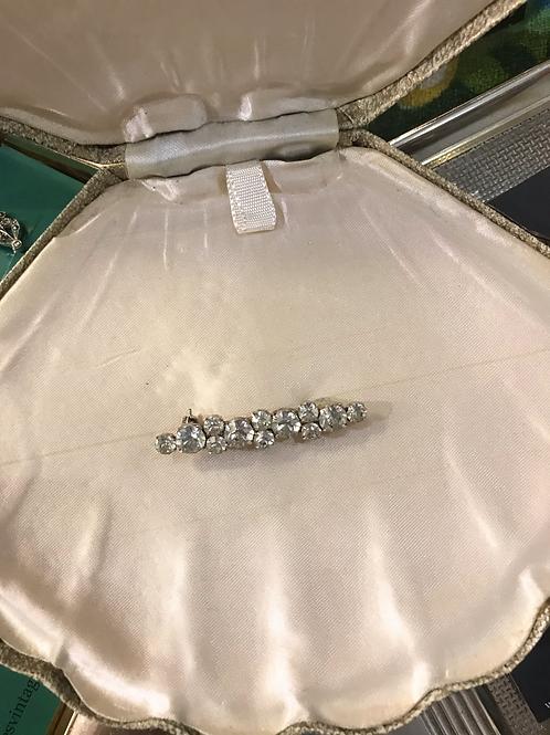 Diamante cluster brooch