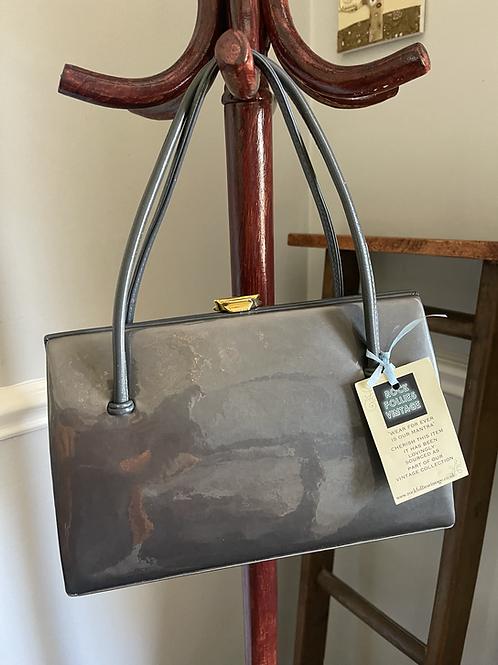 Grey Patent Leather handbag