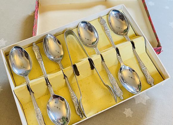 Saint Chrome Tea Spoons & Sugar Tongs