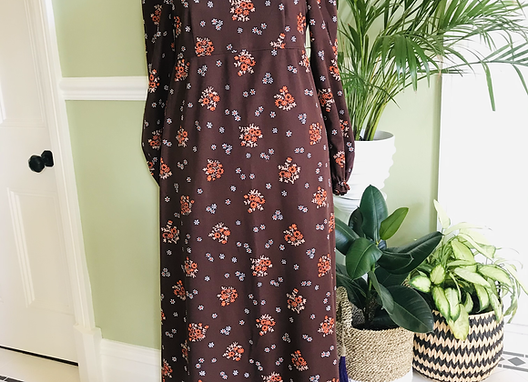 1970s Crimplene Maxi Dress