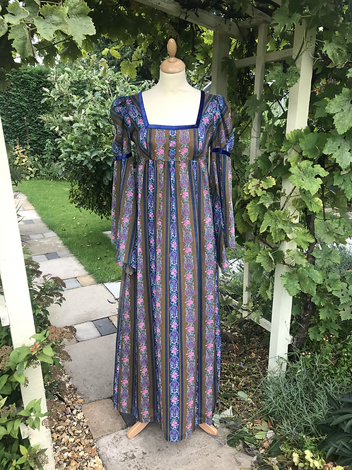 1970s Regency Style Maxi Dress By DollyRockers Front View