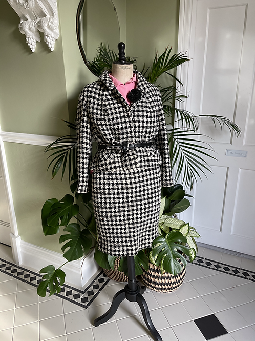 Hounds Tooth Check Wool Suit