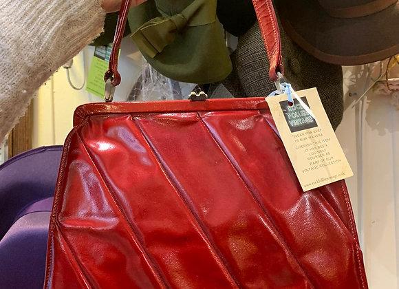 Patent Leather Frame Handbag