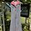 1970s Black, White Red  Gingham Dress on Hanger