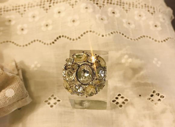 Dome Diamanté  Ring