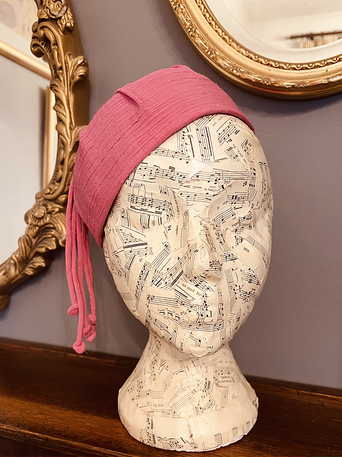 Pink 1960s Tassel Hat