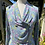 Pastel Green and Blue 1930s Rayon House Dress Front View