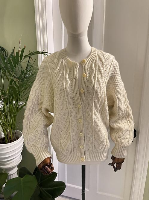 Aran Knit Cardigan /Jacket