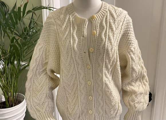 Aran Knit Cardigan /Jacket