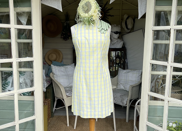 1960s Shift dress with high neck