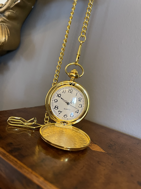 Reproduction Gold Tone Pocket Watch