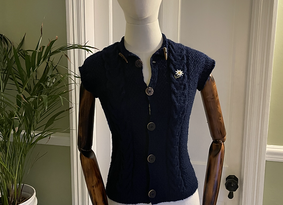 Hand Knitted Navy Waist Coat