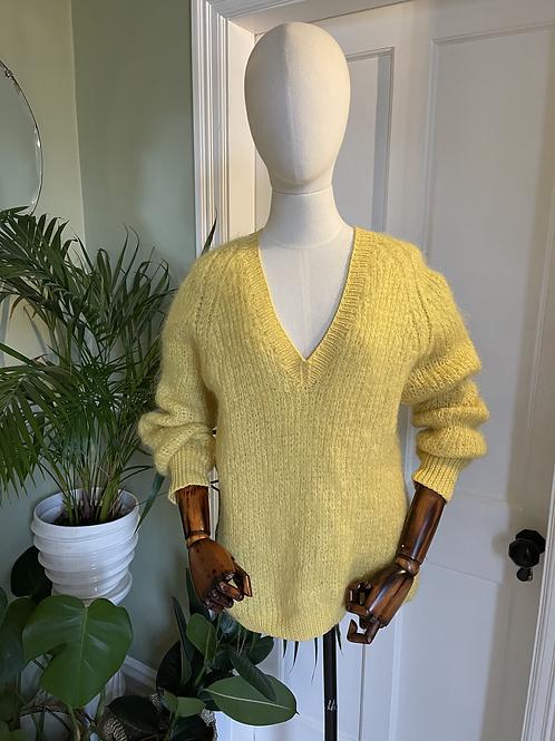 Hand Knitted Mohair Wool 'V' Neck Jumper