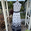 1970s White and Black Maxi Dress By Berketex Back View