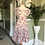 1940s Roses Party Dress Front View