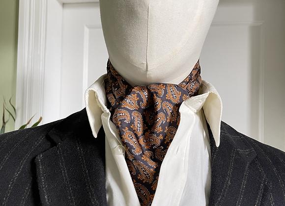 Vintage Cravat - Navy and Orange