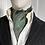 Thumbnail: Vintage Cravat - Olive Green & Turquoise