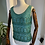 Thumbnail: 1960s Turquoise Green Knitted Beaded Top