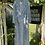 Pastel Green and Blue 1930s Rayon House Dress on Hanger