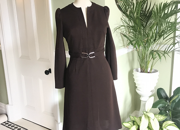 1960s Boutique Wool Dress