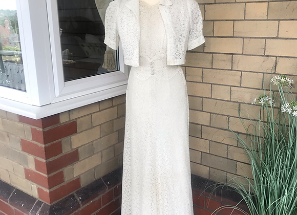 1930's Lace Gown and Bolero Jacket