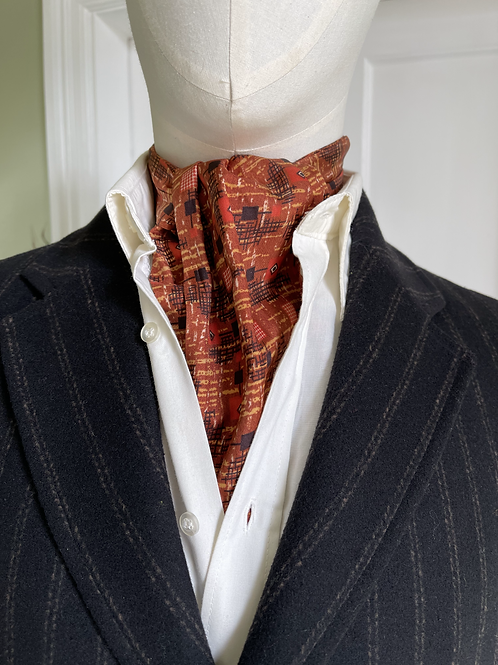 Vintage Cravat - Tans & Orange