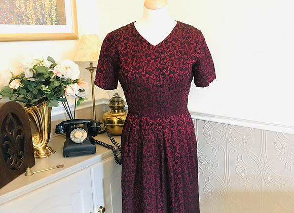 1950s Brocade Dress