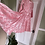 Thumbnail: Pink Brocade Scalloped Edge Gown