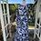 1970s Black & White Print Maxi Dress Back View