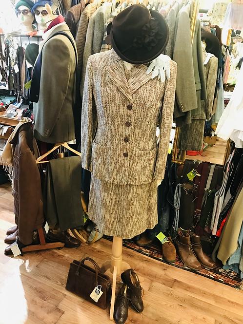 1940s Dress & Jacket Suit Front View