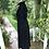 Original 1970s Black  Moss Crepe  Dress By Ossie Clark Side View