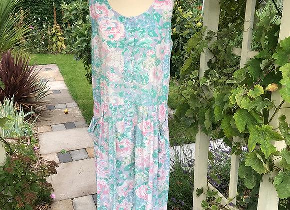 1980's Button down Tea Dress